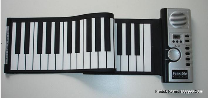 Keyboard musik yang bisa digulung terdiri dari 61 bilah kunci