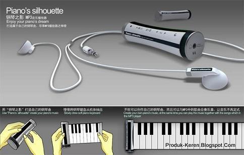 Keyboard musik yang bisa digulung sayangnya baru konsep
