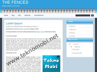 the fences, css temlates, blogger, blogger templates