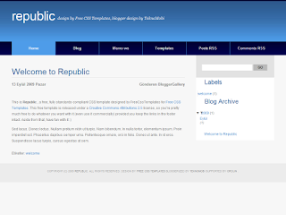 blogger template, blogger themes,republic blogger template