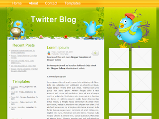 twitter themes, blogger twitter templates