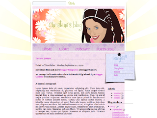 flower girl, blogger templates, css templates, Fashion, Girl, People, Personal pages, Vector