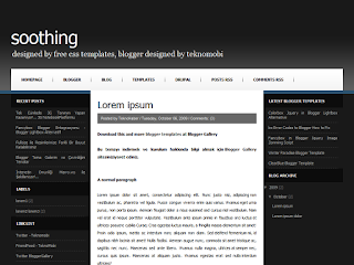 css to blogger, blogger template convert, soothing template,