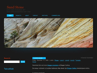 sandstone, sandstone blogger, blogger templates, css templates