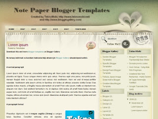 note paper, notepaper templates, blogger templates