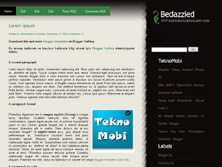 bedazzled, free css theme, 2 columns