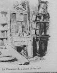 La cheminée du cabinet de travail de la maison d'Auteuil