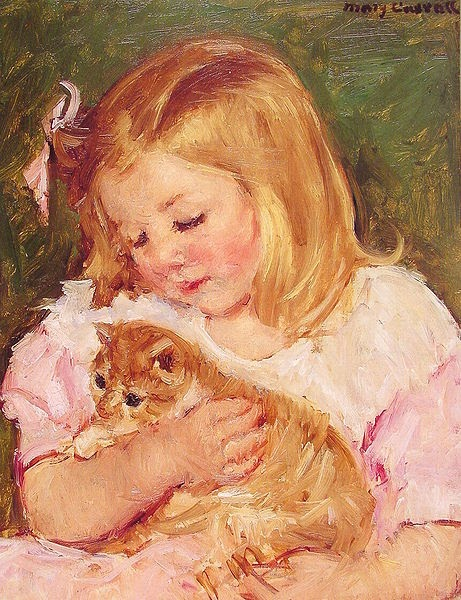461px-Cassatt_M... Mary Cassatt Sara Holding A Cat
