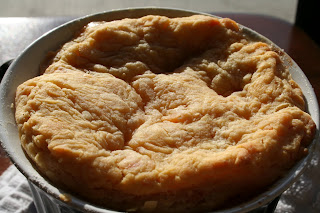 We watched ThrowDown with Bobby Flay the other day and this sweet potato pot pie looked so yummy.