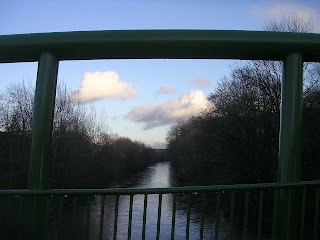 The new view upriver, with the viaduct just visible