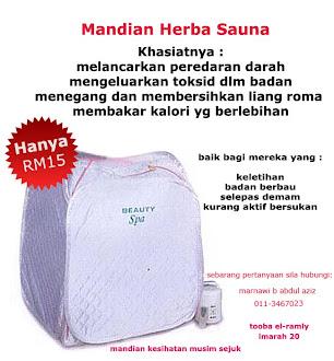 Service 2 Hamba - Mandian Herba Sauna LE15