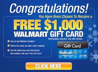 Free $1,000 Walmart Gift Card