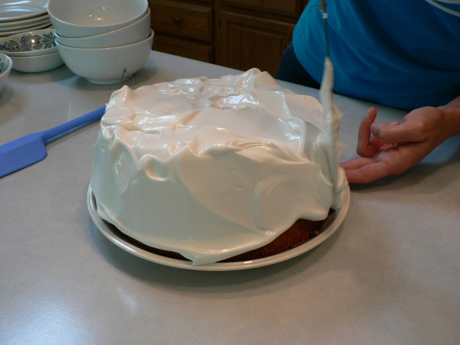 Thumbnail image for Angel Food Cake with 7-Minute Frosting Recipe from Grandma's Cookbook