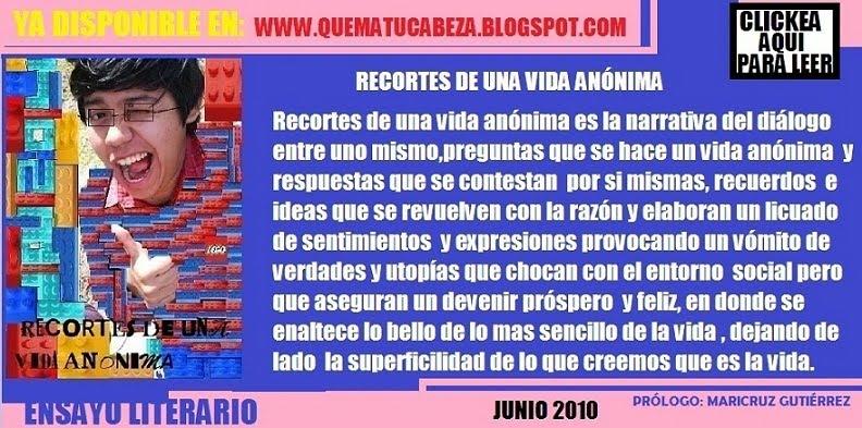 RECORTES DE UNA VIDA ANÓNIMA