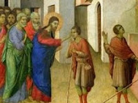 Jesus healing blind men