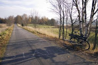 picture of a country road with the word start written on it