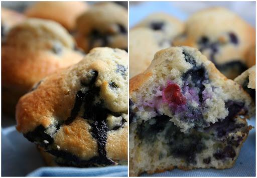 Muffiny jagodowe bez tłuszczu