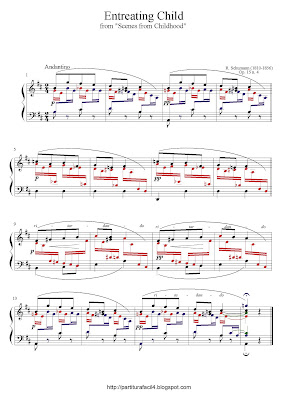 Partitura de piano gratis de Robert Schumann: Entreating Child (Op.15 No.4)