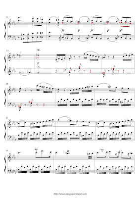Partitura de piano gratis de Franz Joseph Haydn: Sonata Hob, Allegro, Primer Movimiento (XVI:49)