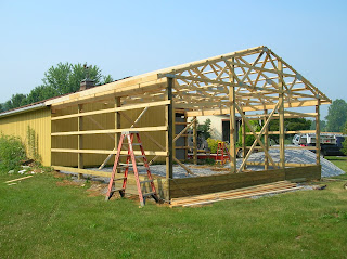 how to build a large eave
