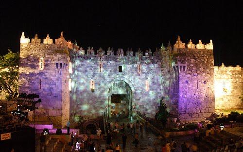 Jerozolima Festiwal Światła Izrael