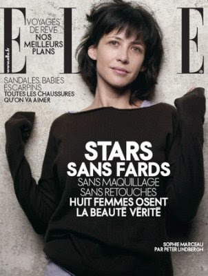 {Sophie Marceau on the cover of April's French Elle.