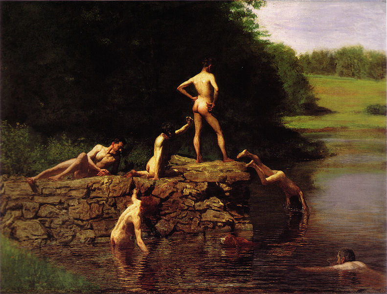 "Eakin's ""The Swimming Hole"" 1884"