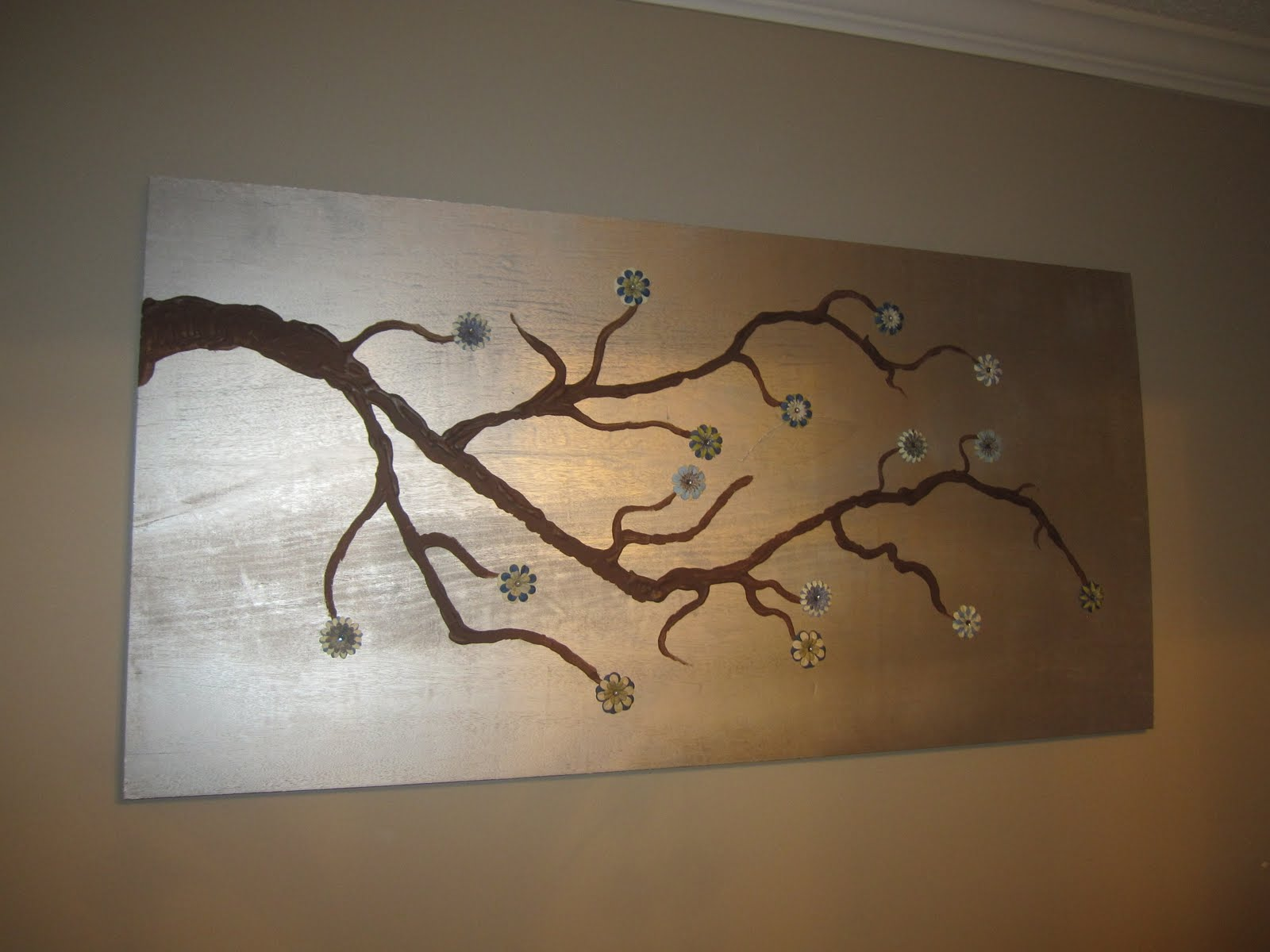Raising them up right new tree branch wall art for Tree wall art