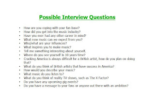 Sarahs music magazine possible interview questions i have written draft questions for my interview they may be altered when i conduct the actual interview i have chosen these questions because they seem thecheapjerseys Gallery