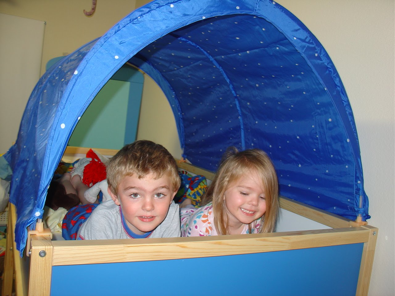 Bunk Bed Tent Top http://mamasmagic.blogspot.com/2010/11/weekend-fun.html