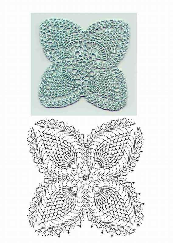 041. Квадратный мотив рисунка ананас ...: crochetpineapplemotif.blogspot.com/2010/03/041.html