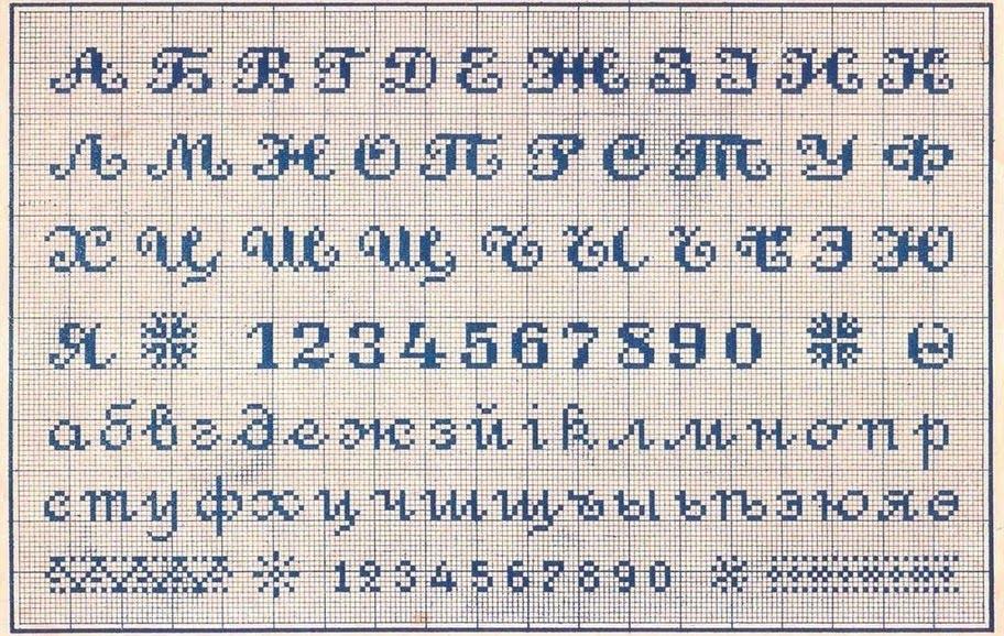 Также существуют схемы вышивки алфавитов.  Наши прабабушки умели красиво вышивать.  Кроме этого, если она вдруг...