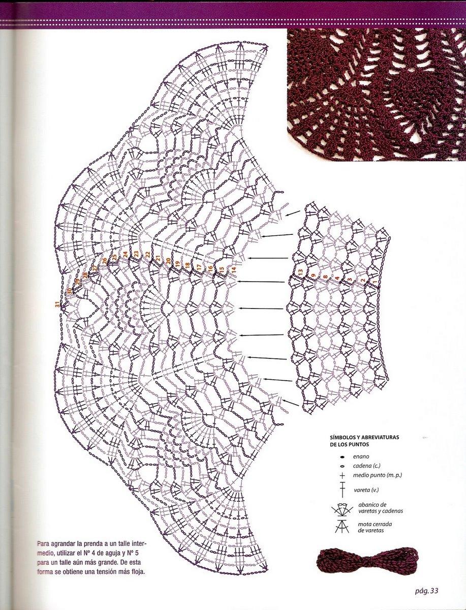 Туника крючком филейное вязание 64