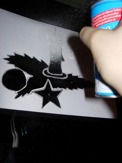 Как сделать трафарет для рисования на окне
