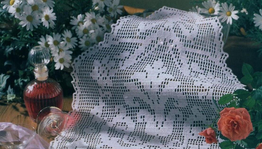 Дорожка крючком филейное вязание