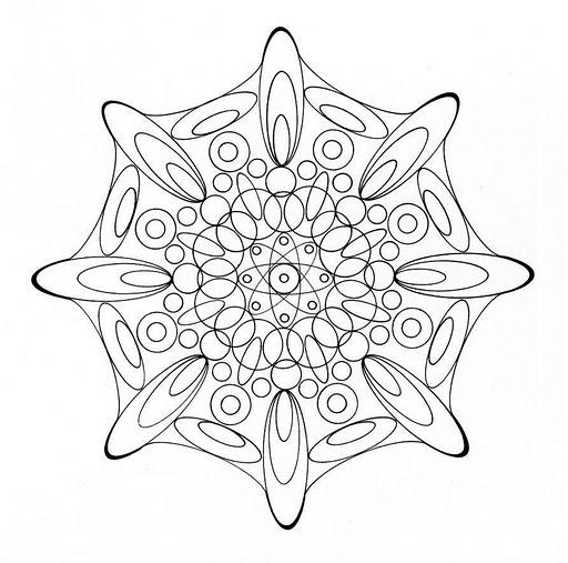 Mandalas Para Pintar: mandala con circulos ovalados