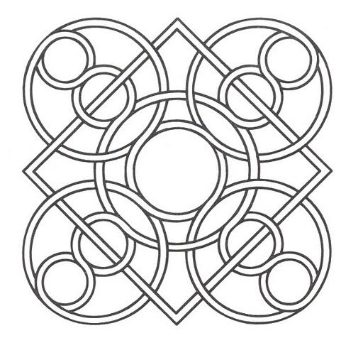 Mandalas Para Pintar: mandala árabe