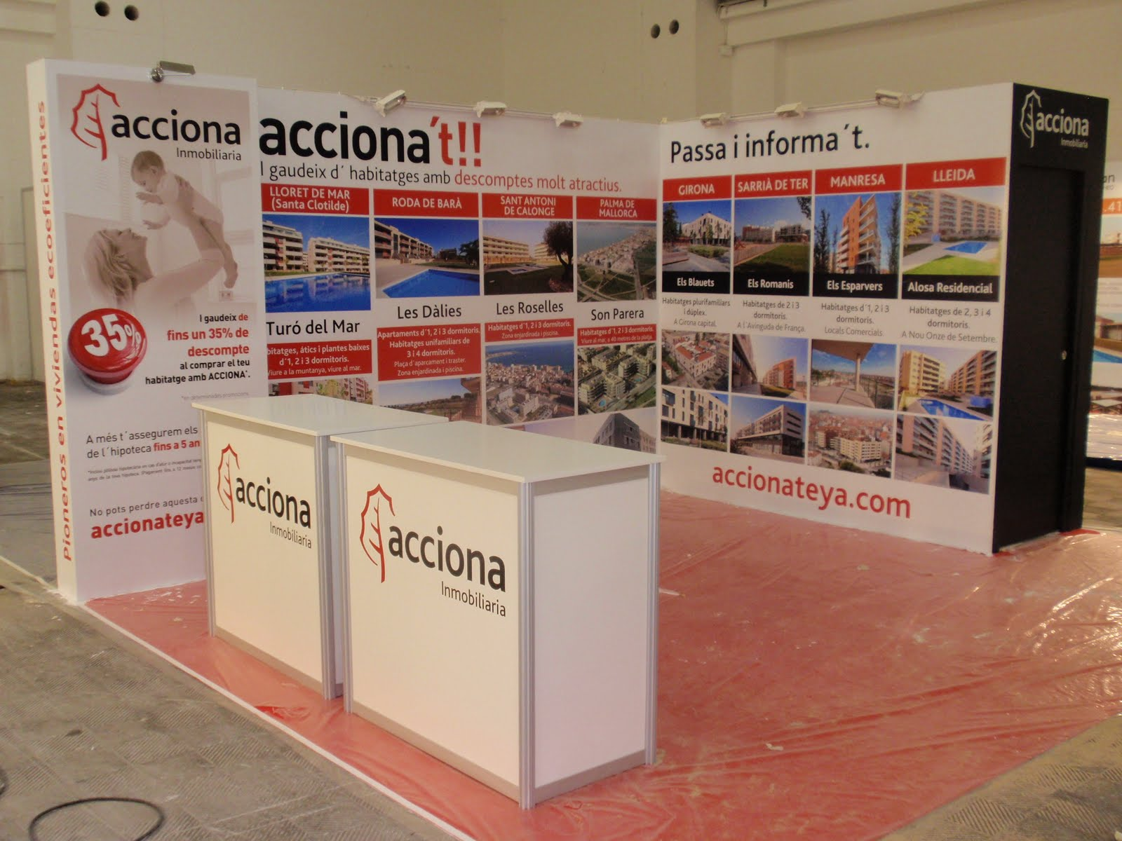 Stand Acciona Fira 3 Montjuic (Barcelona)