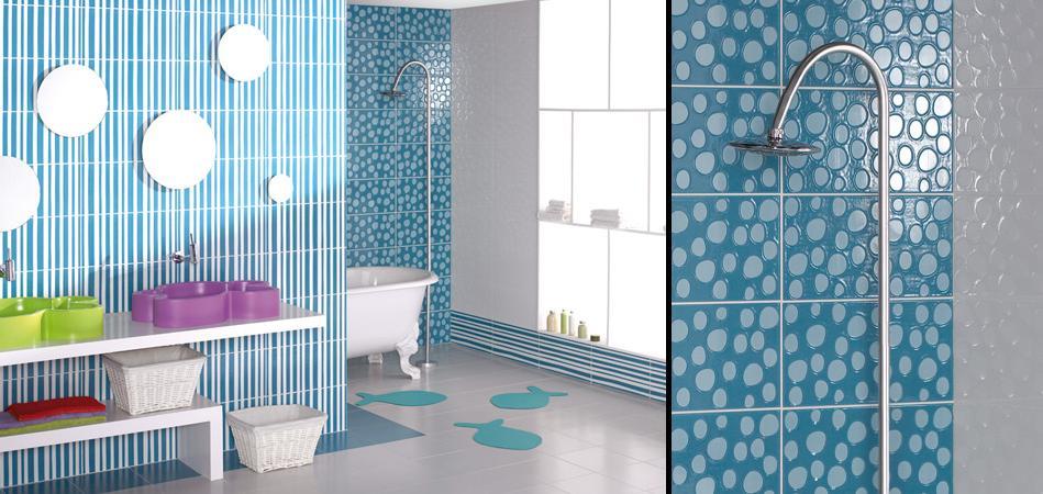 Baos blanco y azul cheap latest azulejos para bao color azulde color azul y blanco de cermica - Azulejos azules para bano ...