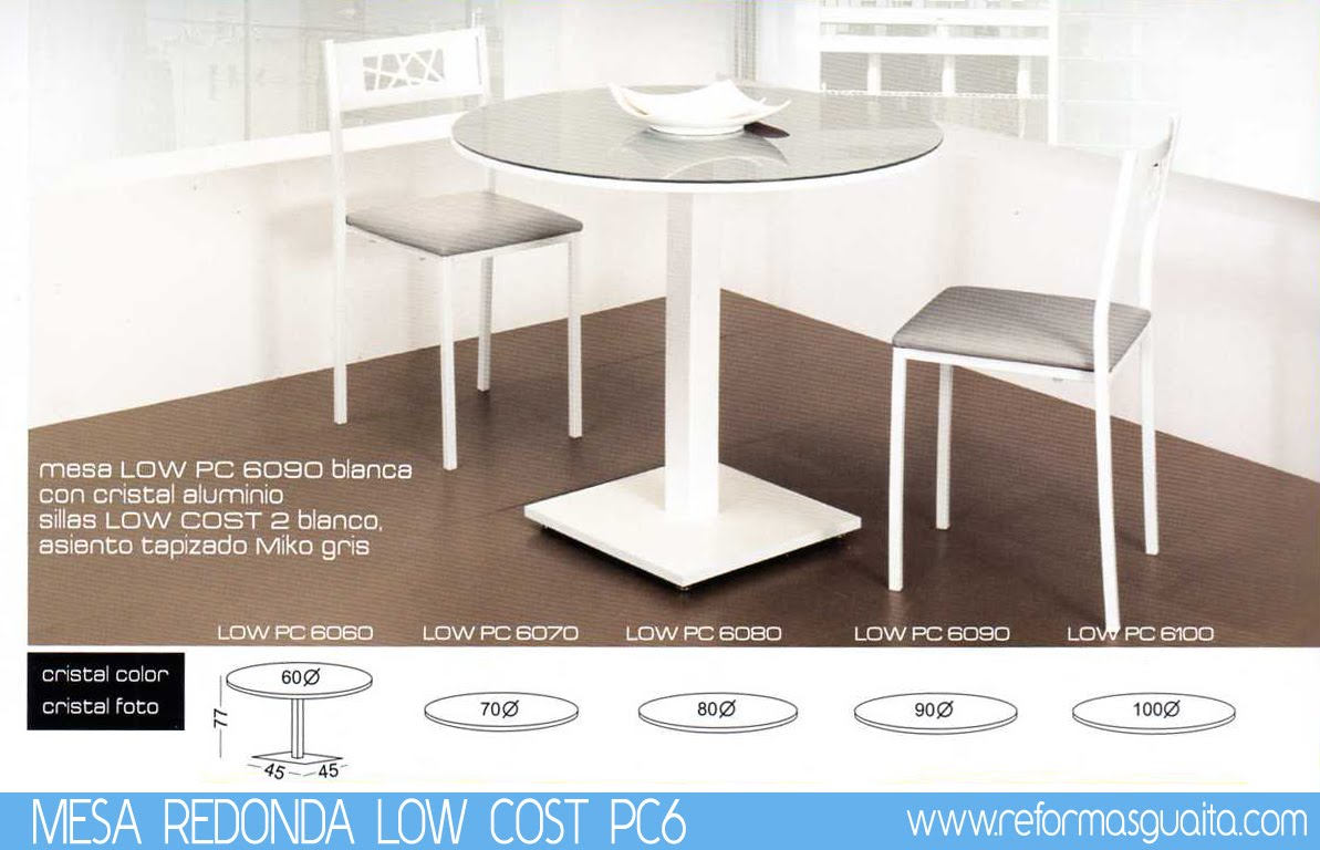 Mesa redonda low cost pc6 reformas guaita for Mesa redonda para 6 sillas