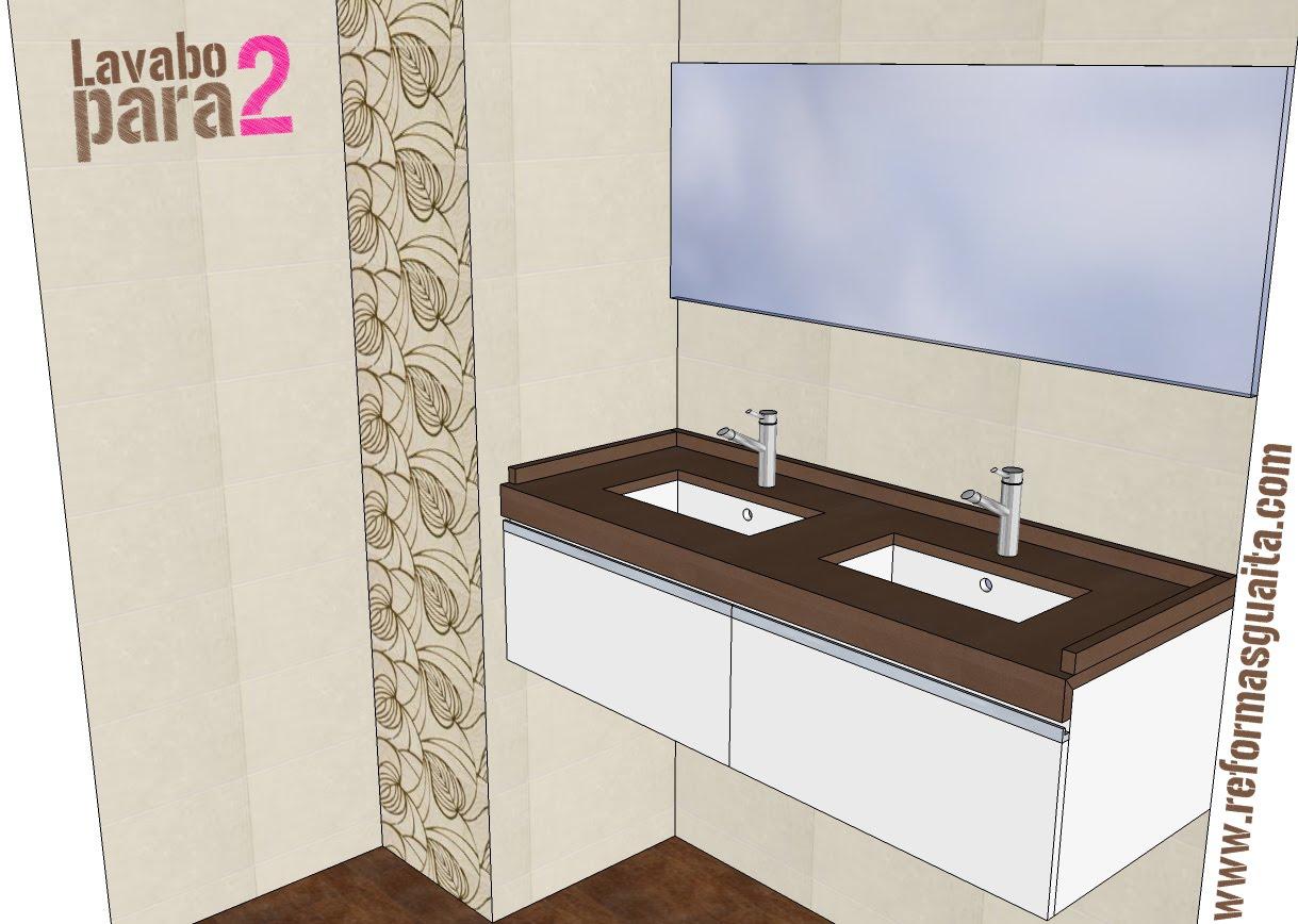 Lavabos para ba o medidas for Mueble bano dos lavabos baratos