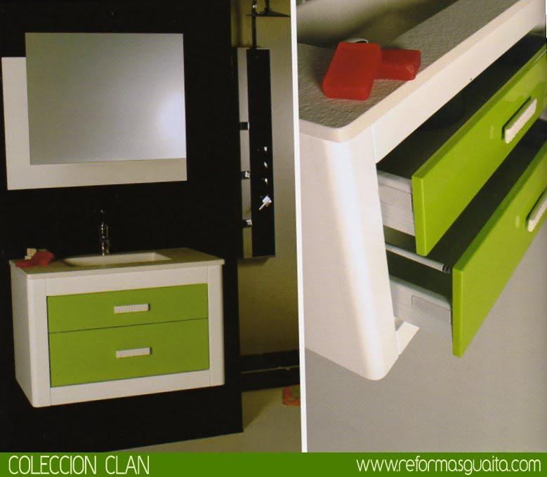 Mueble de baño curvo CLAN ~ Reformas Guaita