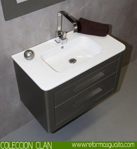 Muebles De Baño Gris Ceniza:Mueble de baño curvo CLAN ~ Reformas Guaita