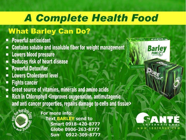Health benefits of barley capsule