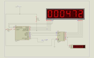 pic16F627a PIC16F628 74HC595 LED 7-segment multiplex