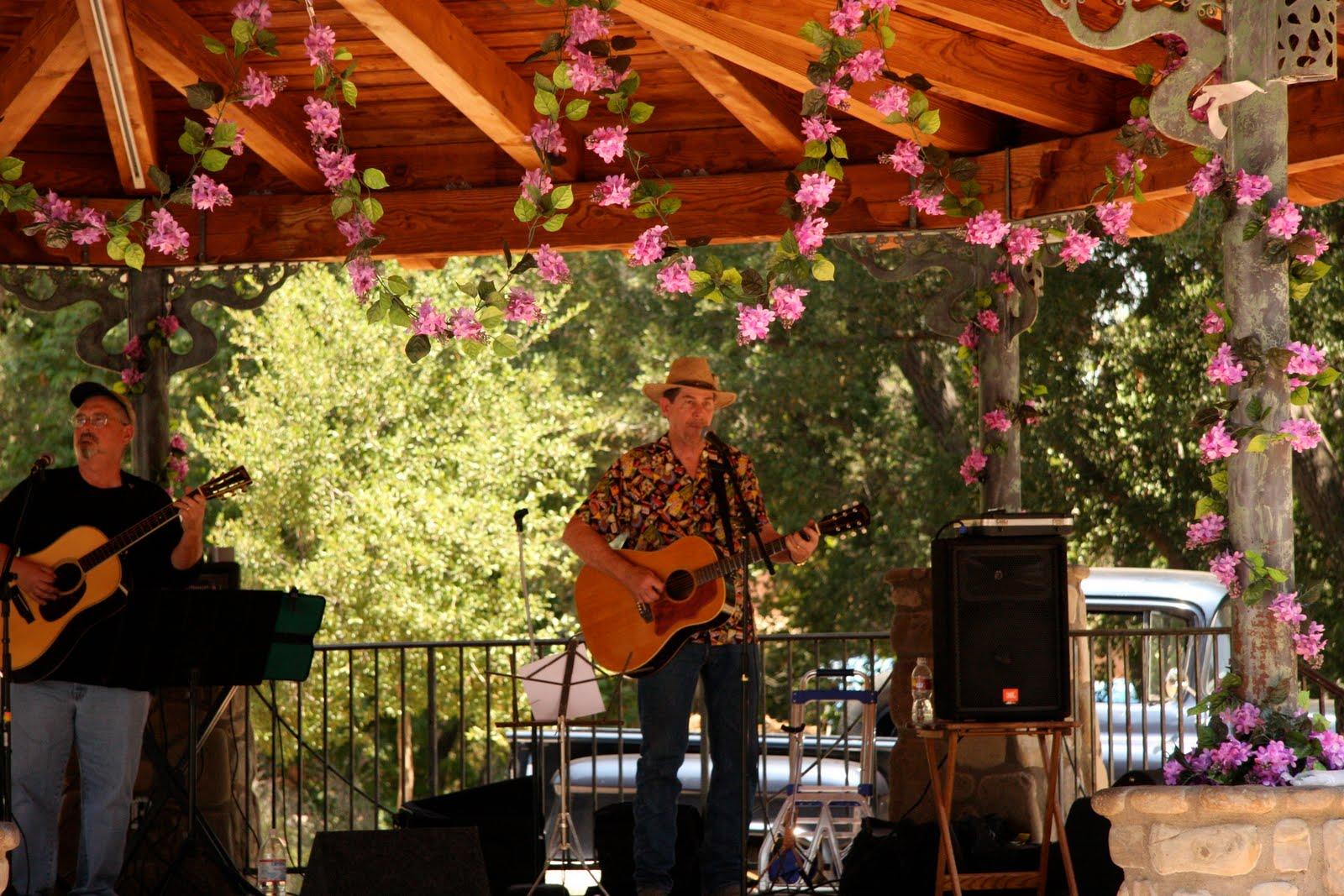 Hosting the Ojai Valley Lavender Festival 6/26/10, guys singing
