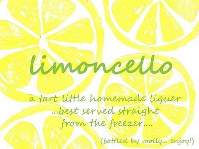Limoncello Labels Homemade Last batch of recipe ideas