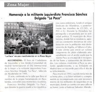 Biografías de Mujeres Socialistas. - Página 2 Paca