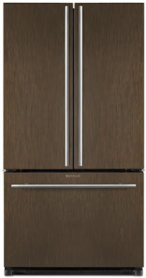 Jenn Air oil rubbed bronze kitchen appliance suite, refrigerator