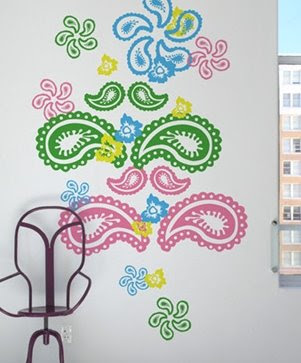 paisley wall decal from Blik